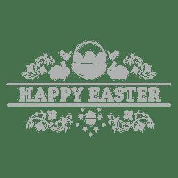 Crachá de giz feliz Páscoa