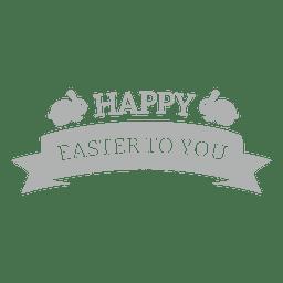 Crachá de giz feliz Páscoa 1