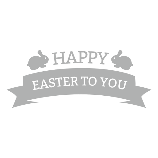 Happy easter chalk badge 1 Transparent PNG