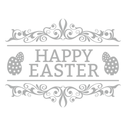 Crachá de giz feliz Páscoa 2