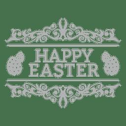 Feliz Pascua de placas de tiza 2