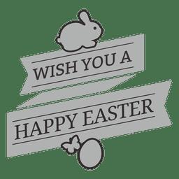 Emblema de giz feliz Páscoa