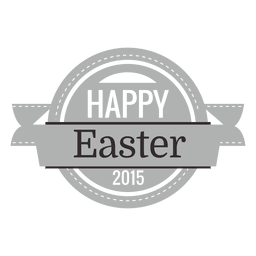 Feliz Pascua tiza emblema 1