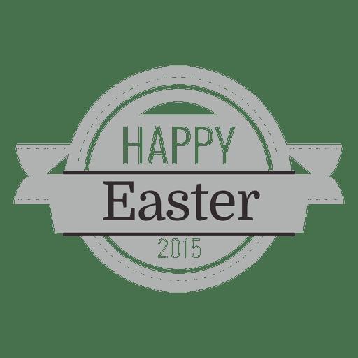 Happy easter chalk emblem 1 Transparent PNG
