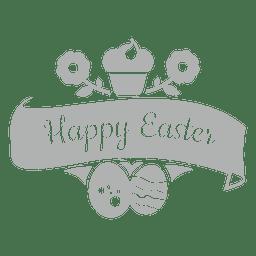 Emblema de giz feliz Páscoa 2