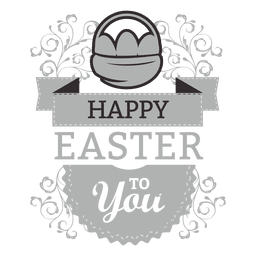Feliz etiqueta de tiza de Pascua
