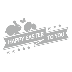 Happy easter chalk label 1