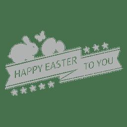 Rótulo de giz feliz Páscoa 1