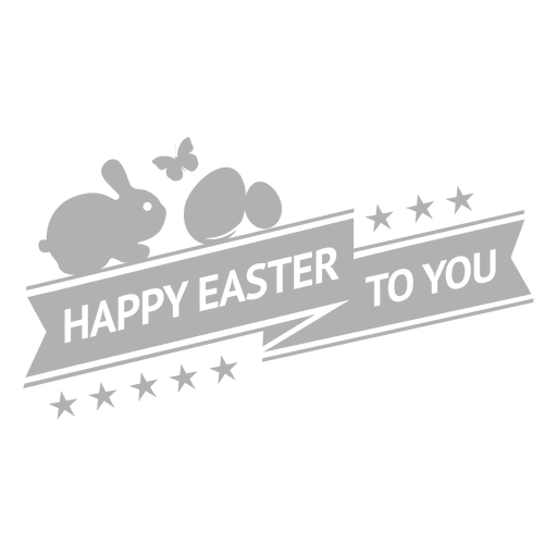 Happy easter chalk label 1 Transparent PNG
