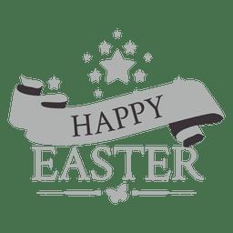 Etiqueta de tiza de Pascua feliz 2
