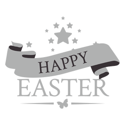 Rótulo de giz feliz Páscoa 2