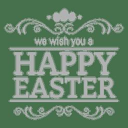 Feliz etiqueta tiza Pascua 3