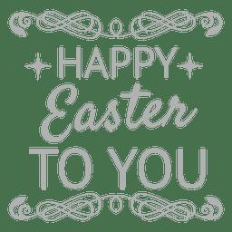 Rótulo de giz feliz Páscoa 4