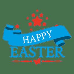 Happy easter emblem