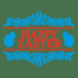 decoración emblema de Pascua feliz