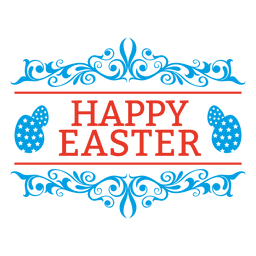 Happy easter emblem decoration