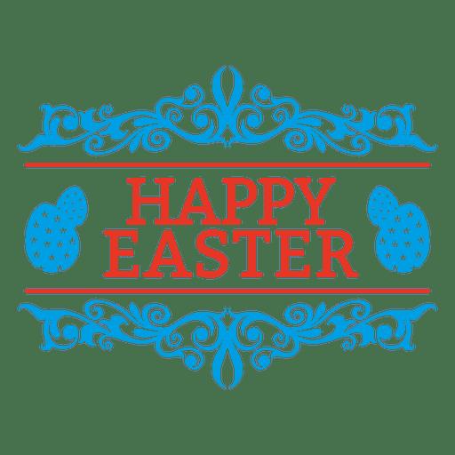 Fröhliche Ostern Emblem Dekoration Transparent PNG