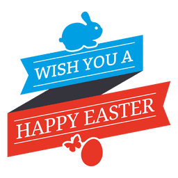 Happy easter wish label