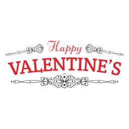 Happy valentines emblem decoracion
