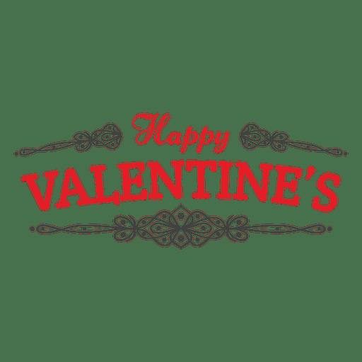 Feliz dia dos namorados emblema decoração Transparent PNG