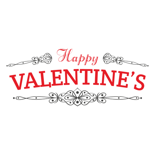 Happy valentines emblem decoration Transparent PNG