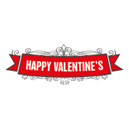 Cinta de adorno de San Valentín feliz