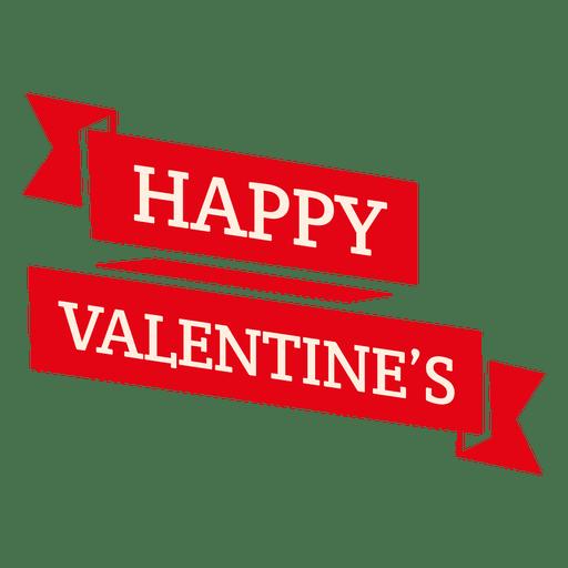 Happy valentines ribbon Transparent PNG