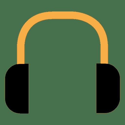 Icono plana de auriculares Transparent PNG