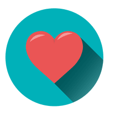 Heart circle icon