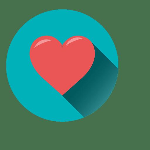 Ícone do círculo do coração Transparent PNG