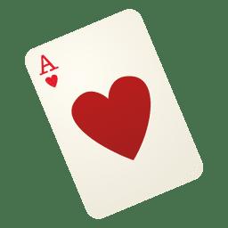 cartão de jogo do coração