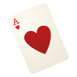 Heart playing card