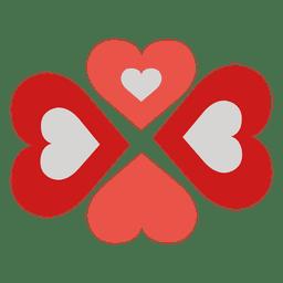 Logotipo de cuidado de corazones