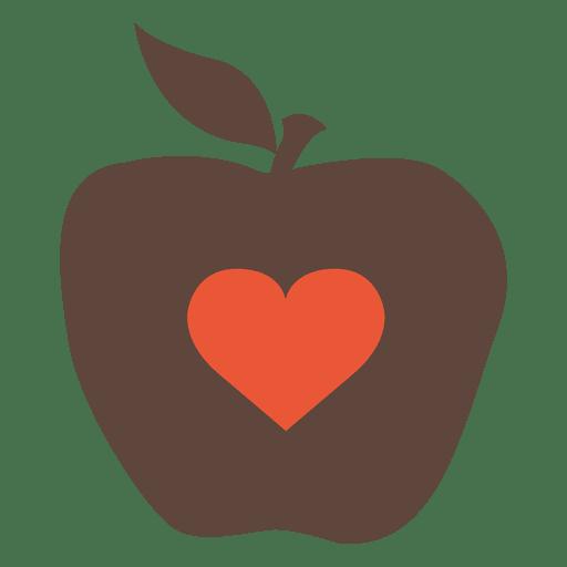 Hitze-Apfel-Symbol Transparent PNG