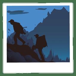 Hicking photo cartoon