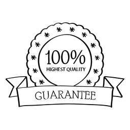 Highest quality guarantee badge