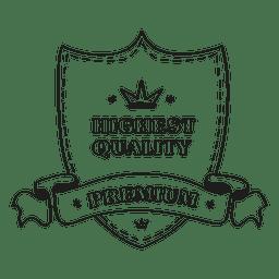 Etiqueta de escudo de la más alta calidad