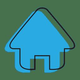 Home blaues Haus-Symbol