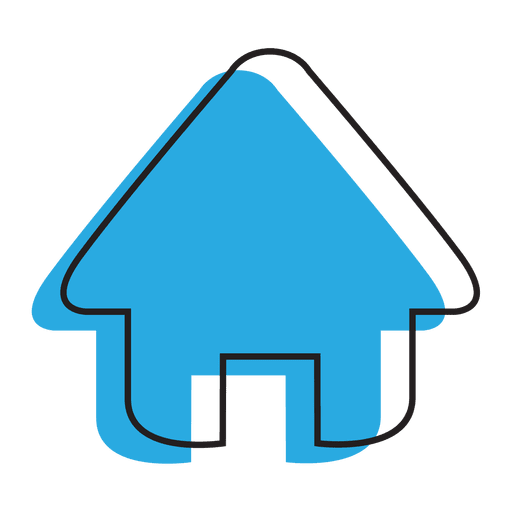 Home blue house icon Transparent PNG