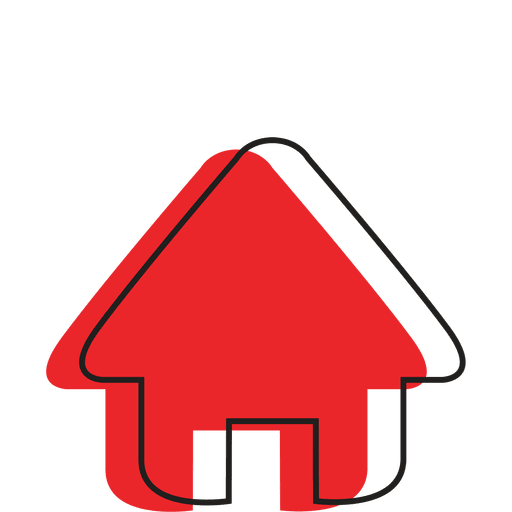 Home Icon with Shadow