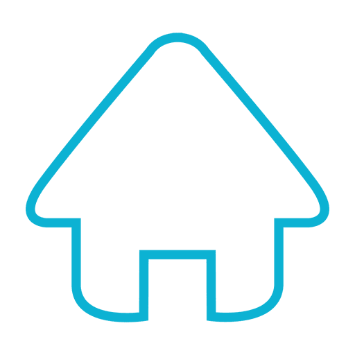 Home stroke icon in blue Transparent PNG