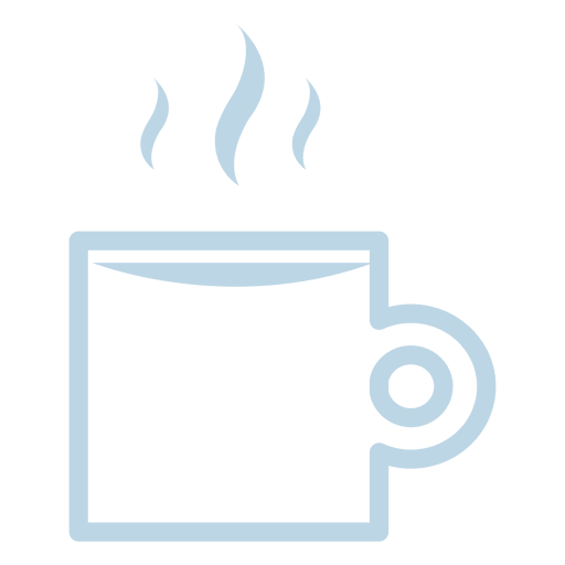 Hot coffee line icon Transparent PNG