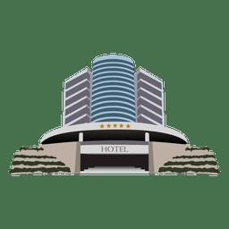 Hotel edificio de dibujos animados