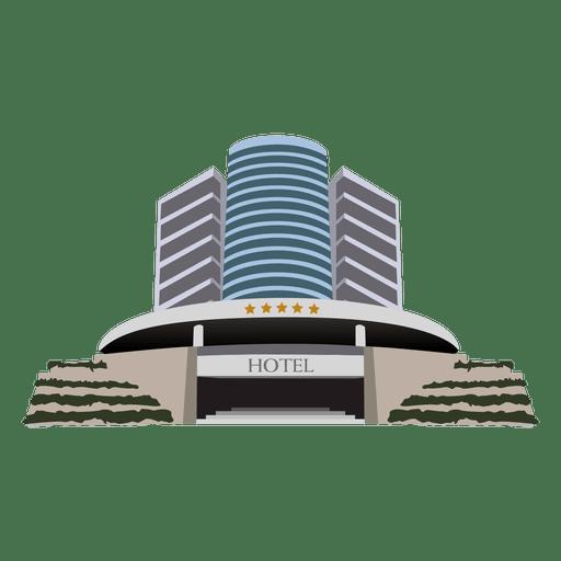 Hotel building cartoon Transparent PNG
