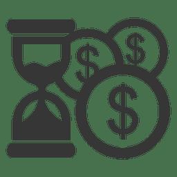 Círculos de dólar de reloj de arena