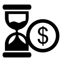 Hourglass dollar icon