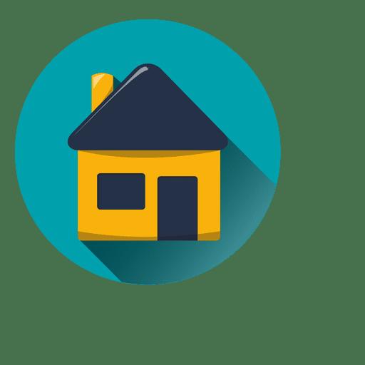 Icono de casa redonda con sombra descargar png svg - How to be a graphic designer from home ...