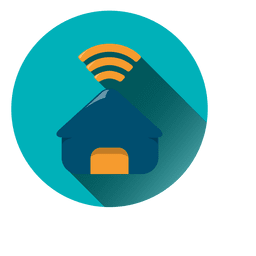 House wifi circle icon