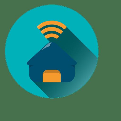 Ícone de círculo wi-fi doméstico