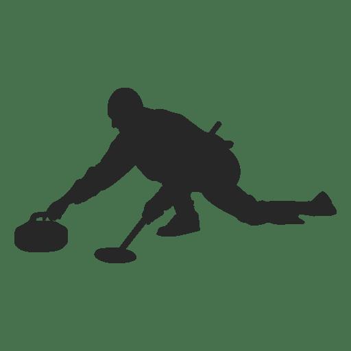 Silueta de curling de hielo 2
